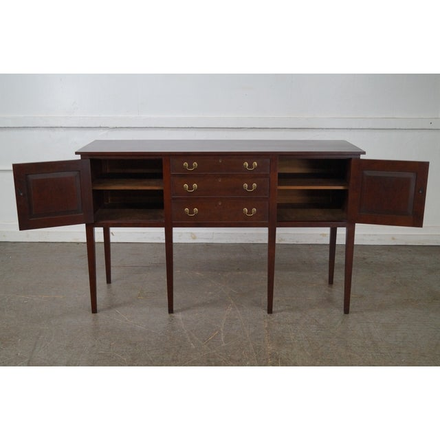 Eldred Wheeler Solid Cherry Country Hepplewhite Style Sideboard For Sale - Image 5 of 10