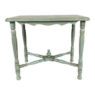 Butler's Table With Lightly Distressed Hand Painted Finish For Sale
