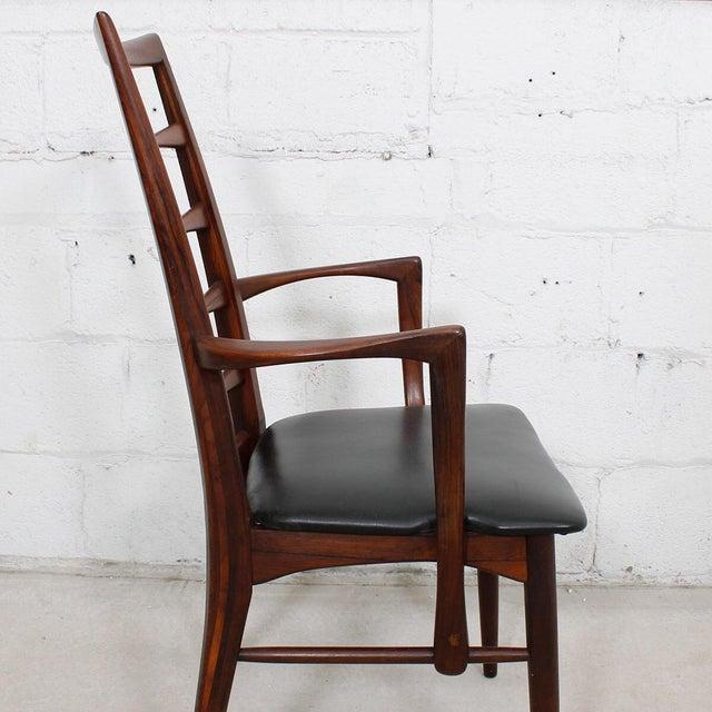 Koefoeds Hornslet Koefoed Hornslet Danish Modern Rosewood Dining Chairs - Set of 6 For Sale - Image 4 of 10