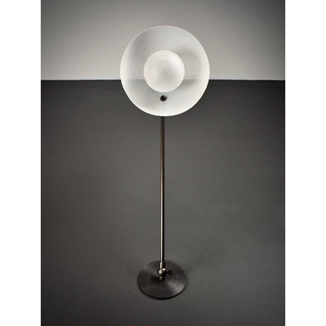 Blueprint Lighting Molto Wall-Mount Reading Lamp in Bronze & Enameled Mesh by Blueprint Lighting For Sale - Image 4 of 9