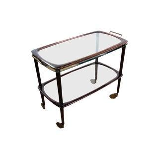 Vintage Mid-Century Italian Bar Cart For Sale