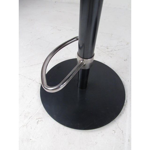 Silver Pair Industrial Metal Bar or Counterl Stools For Sale - Image 8 of 13