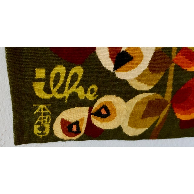 Handwoven French Tapestry by Henri Ilhe For Sale - Image 4 of 9