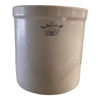 Vintage Robinson Ransbottom Stoneware Crock For Sale