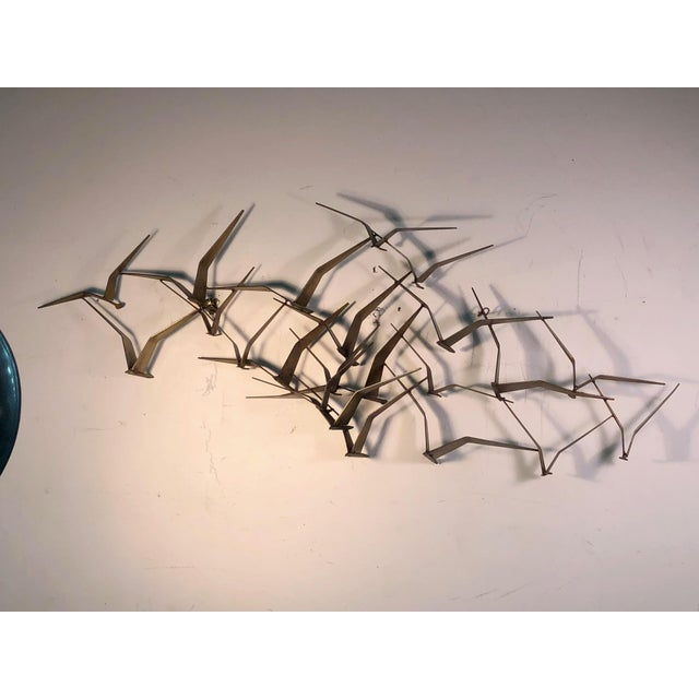 Metal Monumental Curtis Jere Flying Birds Wall Sculpture For Sale - Image 7 of 7
