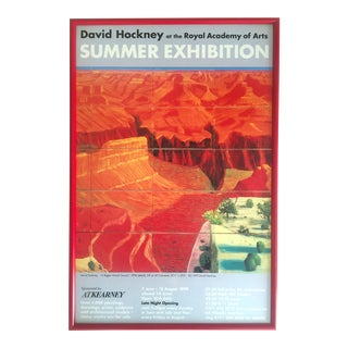 David Hockney 1999 Original Lithograph Print Framed Exhibition Poster For Sale