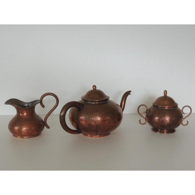 1970s Vintage Copper Tea or Coffee Serving Set. For Sale - Image 5 of 6