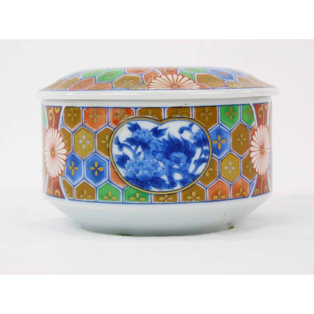 Japanese Imari Porcelain Trinket Box - Image 2 of 6