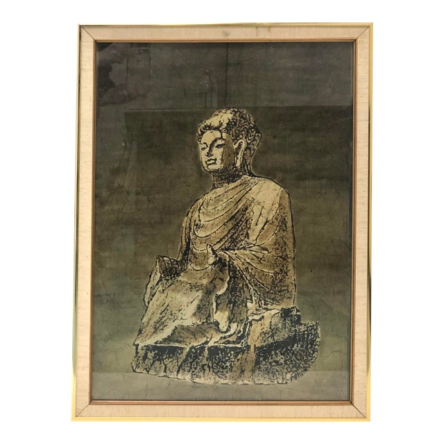 Batik Painting of a Buddha Figure For Sale