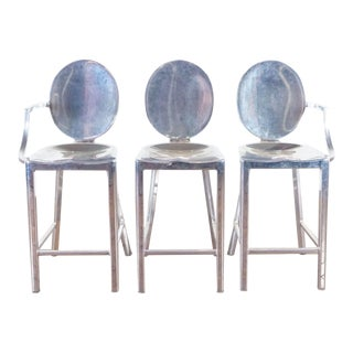 Emeco Kong by Philippe Starck Chrome Finish Bar Stools- Set of 3 For Sale