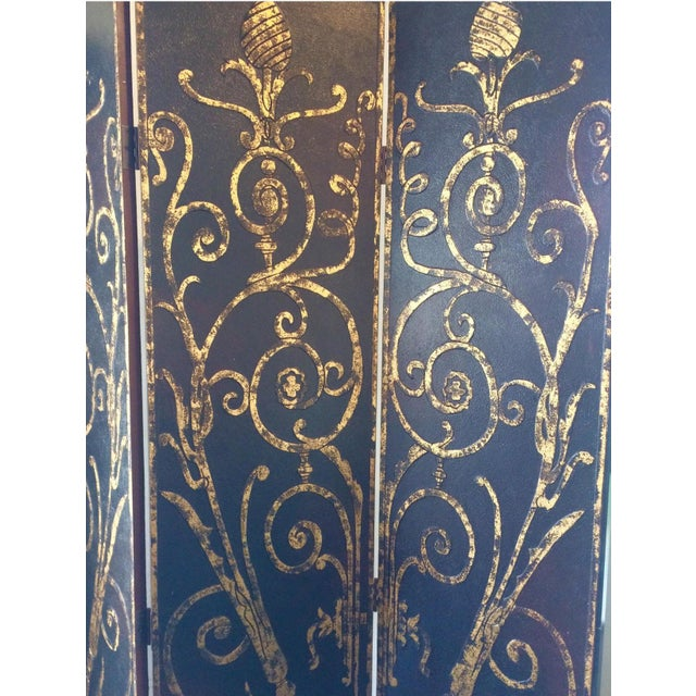 2010s French Style 4 Panel Room Divider/Screen For Sale - Image 5 of 11