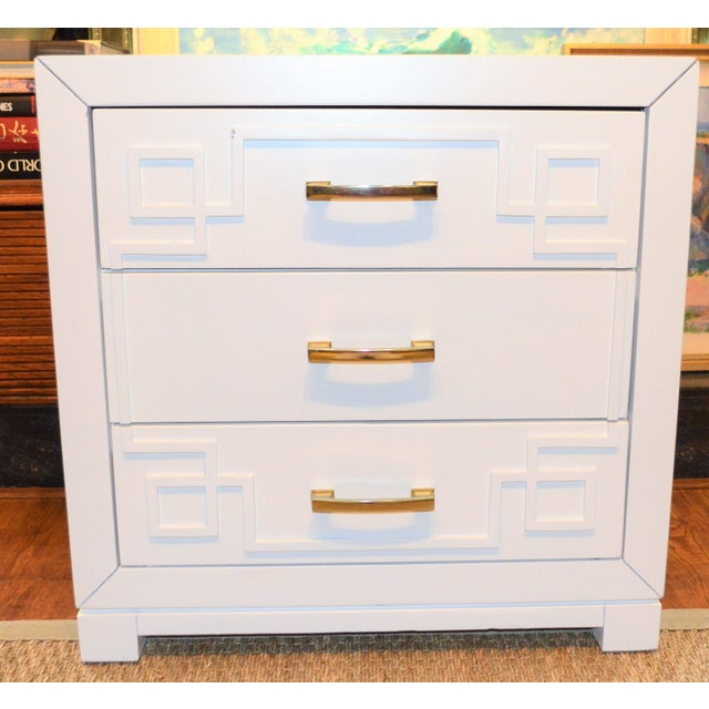 Chinoiserie Greek Key Night Stand - Image 10 of 10