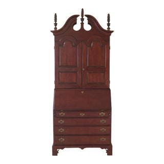 Wright Table Co. Blind Door Cherry Secretary Desk with Bookcase Top For Sale