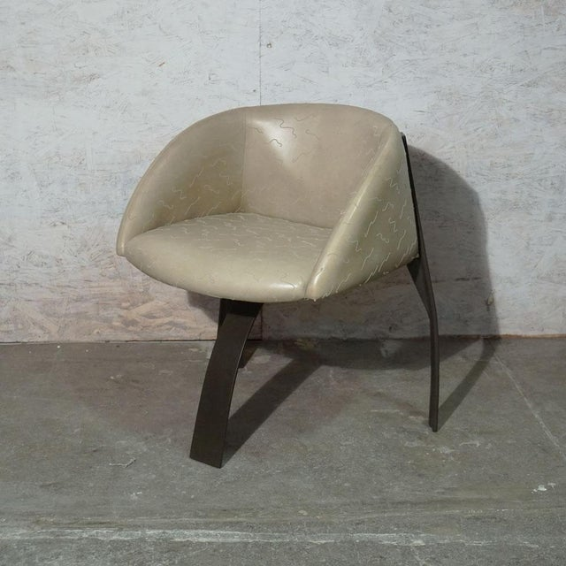 Pod Dining Chair Prototype (two available). Powder Coated Aluminum Frame With Lamb Upholstery Price per chair 2800.00...