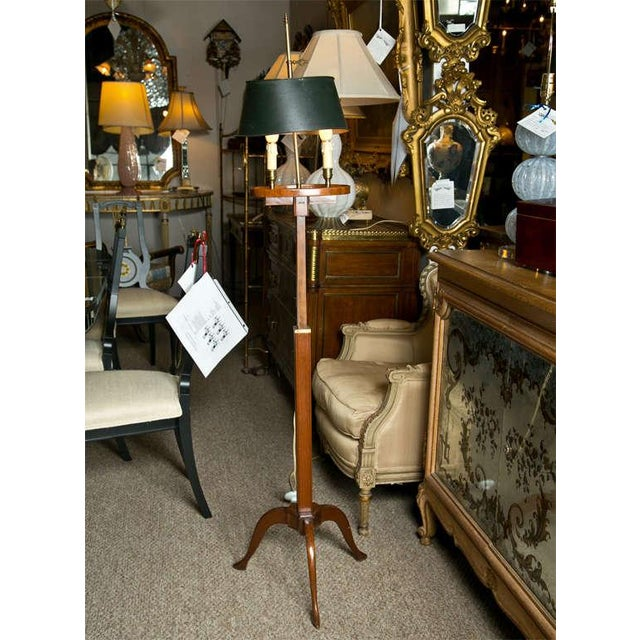Mahogany Bouillotte Floor Lamp by Jansen - Image 2 of 7