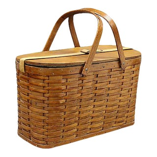 1950s Picnic Basket / Ice Chest For Sale