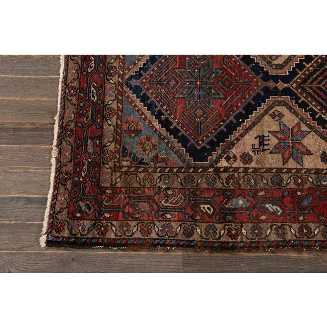 Textile Vintage Heriz Wool Rug 3'7'' X 6'5'' For Sale - Image 7 of 13