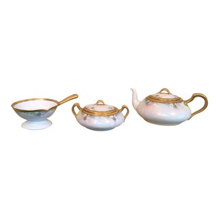 1890's Limoges Tea Set - Set of 3