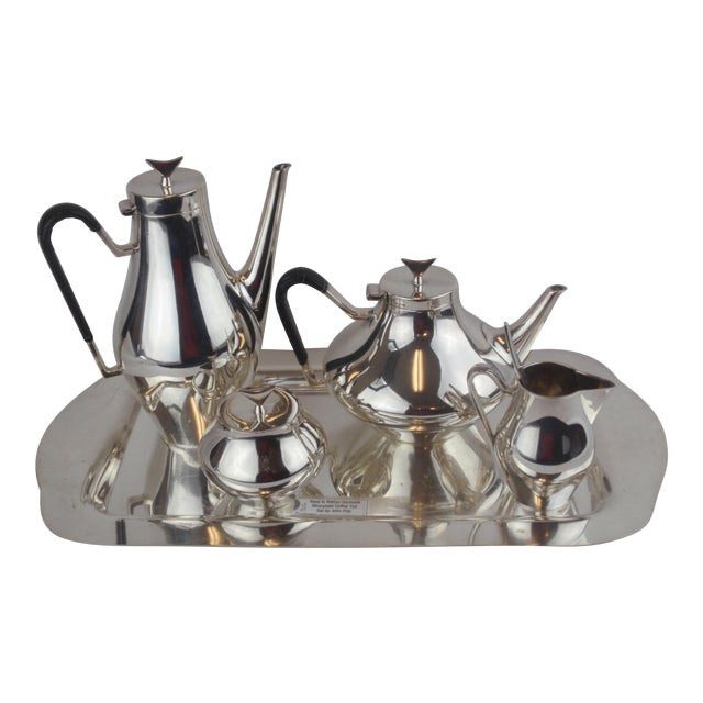 John Prip for Reed & Barton Denmark Modernist Coffee Tea Set - Image 1 of 10