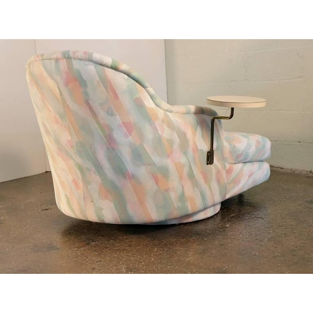 Textile Milo Baughman for Thayer Coggin 1980s Chaise Longue with Table For Sale - Image 7 of 9