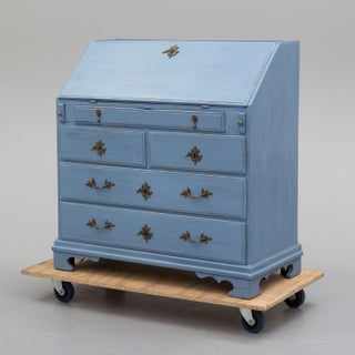 19th Century Swedish Blue Secretaire Desk Preview