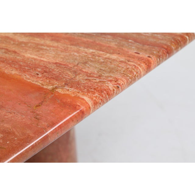 Red Mario Bellini's Red Travertine 'Il Collonato' Dining Table For Sale - Image 8 of 11