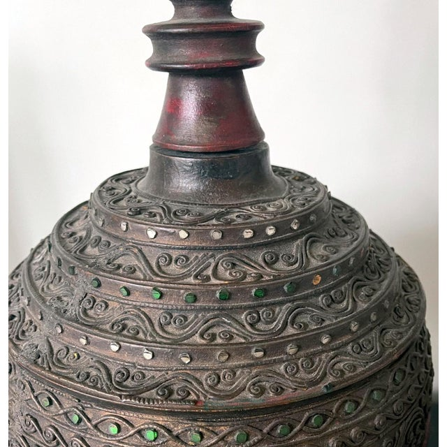 Antique Lacquered Wood Offering Vessel, Thailand For Sale - Image 4 of 12