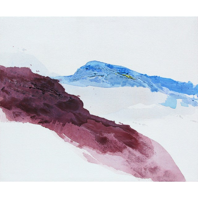 Violet Mountainside Abstract Landscape Painting - Image 1 of 3