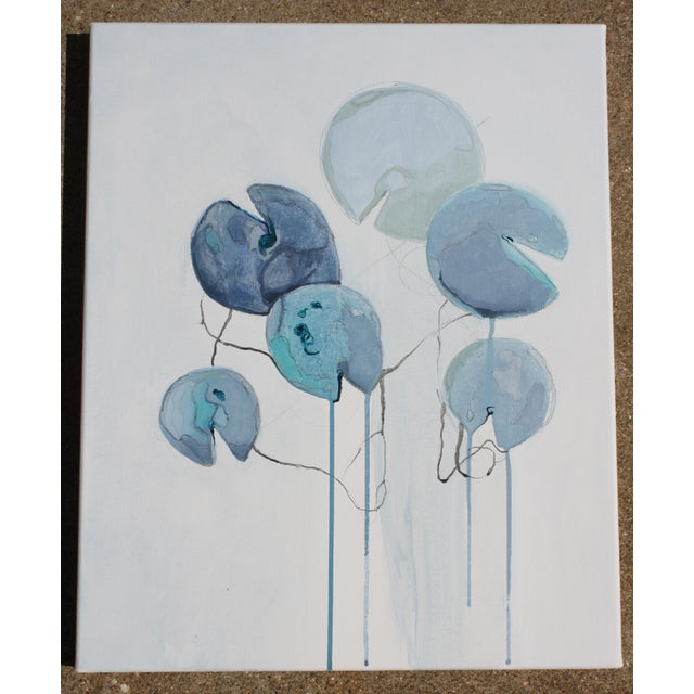 """""""Connected Blue"""" Oil Painting - Image 2 of 8"""
