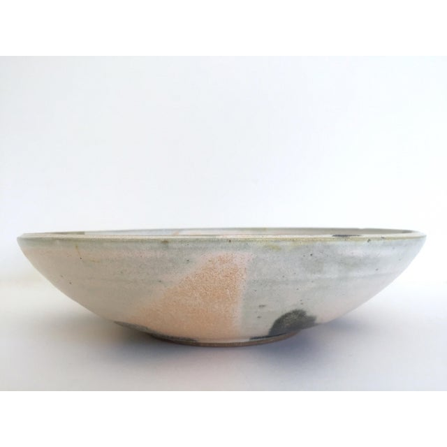 Vintage Mid Century Modern Studio Pottery Abstract Expressionist Signed Ceramic Bowl For Sale - Image 9 of 13