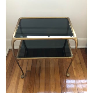 1960s Italian Maison Baguès Style Oil Rubbed Bronze Brass Table Preview
