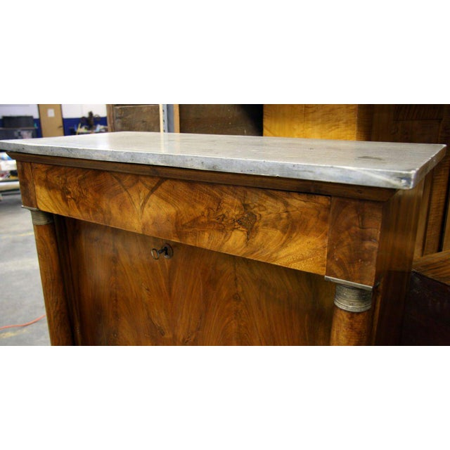 Walnut Empire Secretaire For Sale - Image 7 of 9