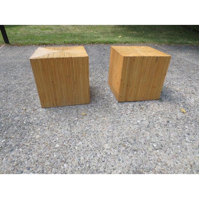 Vintage 1970s McGuire Bamboo End Tables - A Pair - Image 2 of 5