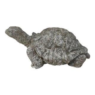 1950s Cast Stone Turtle Garden Ornament For Sale