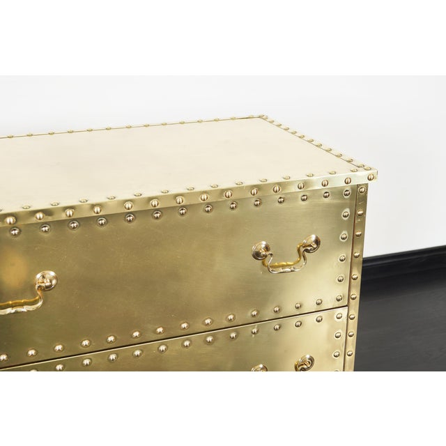 Sarreid Ltd. Vintage Brass Dresser by Sarreid For Sale - Image 4 of 9