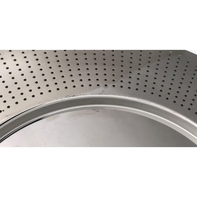Contemporary Alessi Round Polished Stainless Steel Tray For Sale - Image 3 of 12