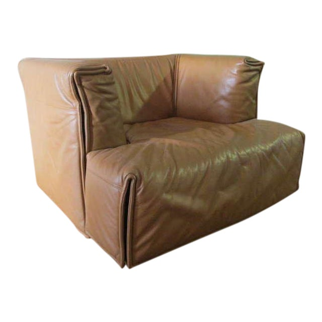 Unique Italian Leather Chair For Sale