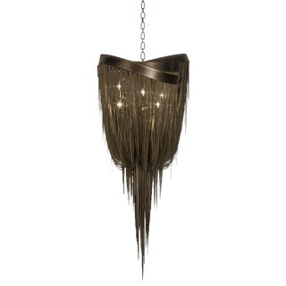 Hudson Furniture Modern Bronze Chandelier For Sale