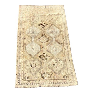 1940s Vintage Persian Gabbeh Rug - 4′1″ × 7′6″ For Sale