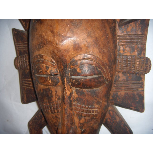 African Carved African Tribal Mask For Sale - Image 3 of 11