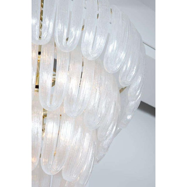 Hand Blown Glass Loop Chandelier after Barovier & Toso For Sale - Image 4 of 10