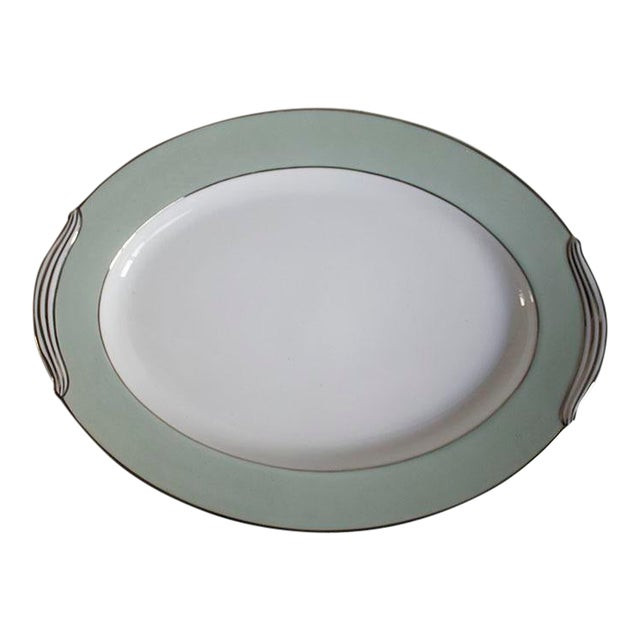 Noritake China Greencourt Pattern Oval Platter For Sale