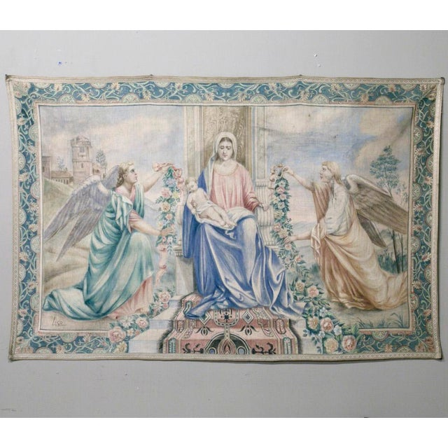Antique Italian Sucre De Herb Tapestry For Sale - Image 9 of 9