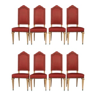 Eight Antique French Traditional Dining Chairs For Sale