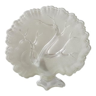 Textured Glass Tree Plates - Set of 4