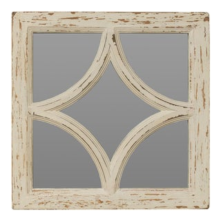 Antique Diamond Shape Old Pine Mirror