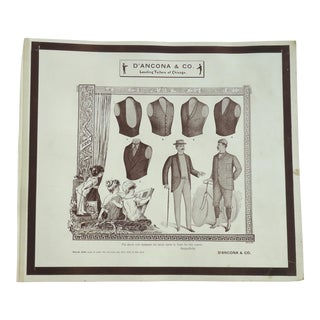 Antique Edwardian Men's Fashion Plate Print