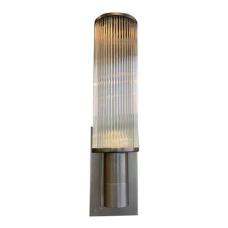 Casella Lighting Bronze and Glass Pod Wall Sconce For Sale