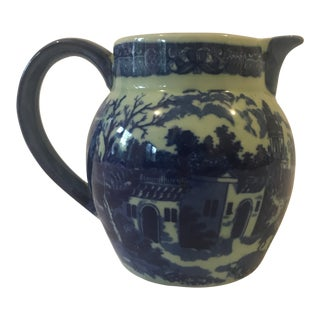 Victoriaware Ironstone Blue & White Pitcher