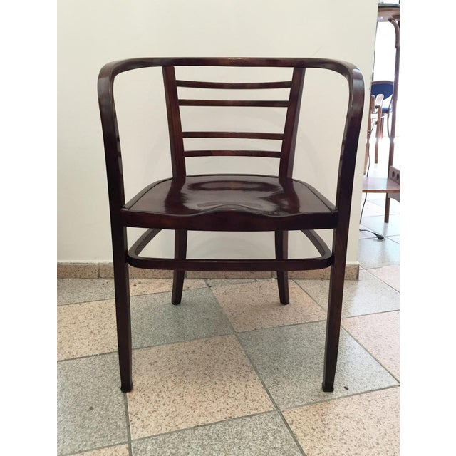 Brown Viennese Secession bentwood armchair, 1900s For Sale - Image 8 of 8
